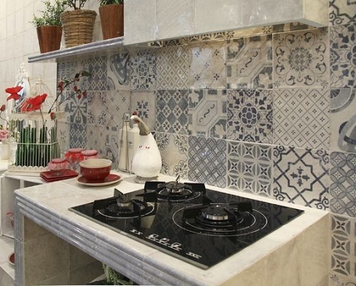 Gạch bông vân cổ điển cho phòng bếp thanh lịch và tinh tế.