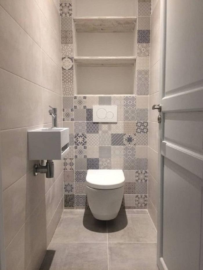 Trang trí bằng Gạch bông vân cổ điển cho phòng vệ sinh thân thiện