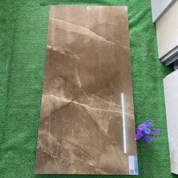 Gạch 60×120 CM Màu Nâu Vân Đá Cẩm Thạch Bóng Kính Nhập Khẩu