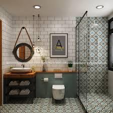 Trang trí bằng Gạch bông vân cổ điển cho phòng vệ sinh dễ lau dọn