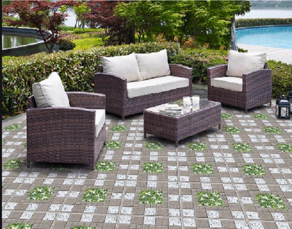 Nhiều nhà sử dụng sân thượng để đặt thêm một bộ bàn trà làm nơi thư giãn, nghỉ ngơi, trò chuyện