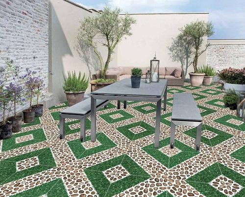 gạch không chỉ có độ cứng, độ bền cao mà khả năng chống nóng, chống thấm nước cũng vô cùng tốt