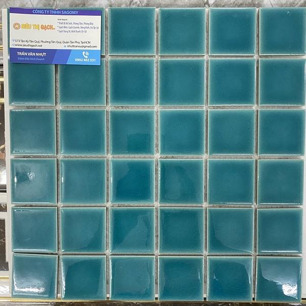 Gạch Gốm Mosaic Màu Xanh Ngọc Bích Ốp Tường Phòng Vệ Sinh