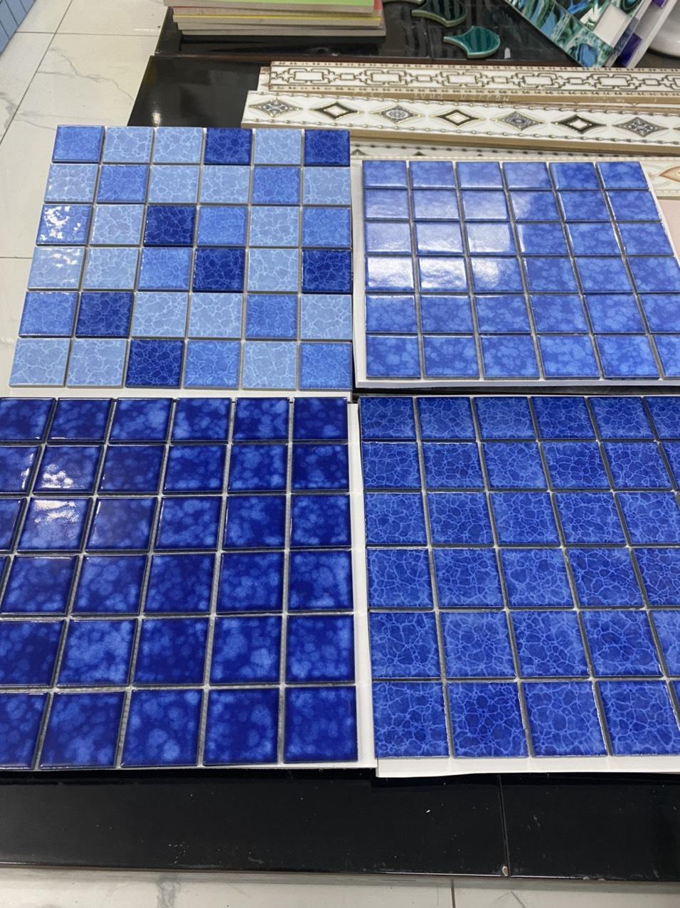 gach mosaic mau xanh bien