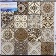 Gạch Mosaic Thủy Tinh Vân Cổ Điển Ốp Lát Phòng Vệ Sinh