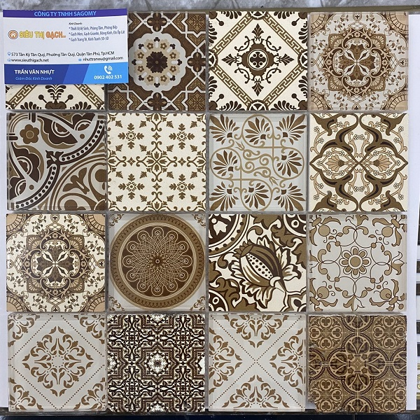 gach mosaic thuy tinh van co dien mau vang nau