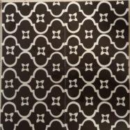 Gạch Bông Men Màu Đen Hoa Văn Trắng Ốp Tường 20×20 Cm