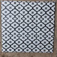 Gạch Bông Men Màu Trắng Hoa Văn Ô Vuông 20×20 Cm
