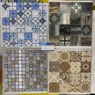 Gạch Mosaic Thủy Tinh Kiếng Màu Vàng