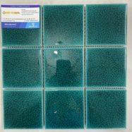 Gạch Ốp Tường 10×10 Cm Màu Xanh Ngọc Lục Bảo Men Rạn