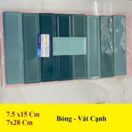 Gạch Thẻ Màu Xanh Ngọc Ốp Tường 7,5×15 Cm 7×28 Cm