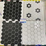 4 Mẫu Gạch Mosaic Lục Giác Màu Trắng – Màu Đen Giá Rẻ