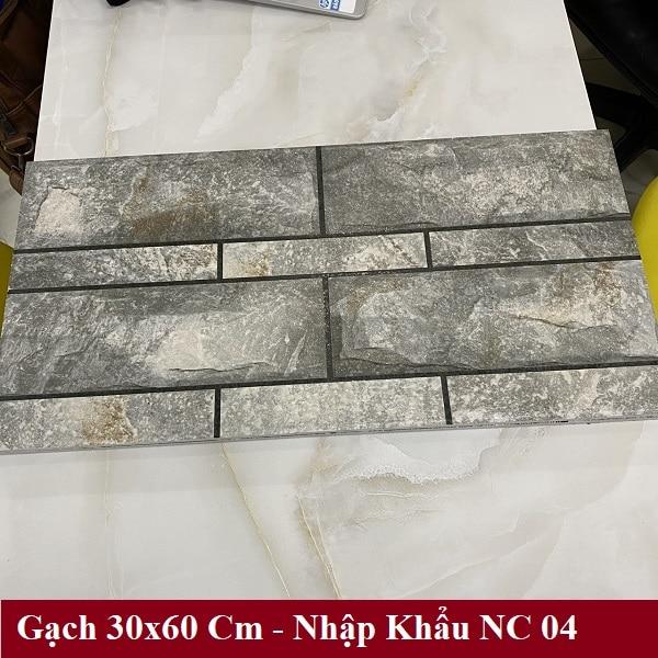 Gạch Đá 30×60 Cm Màu Xám Vân Đá Ốp Tường Mặt Tiền