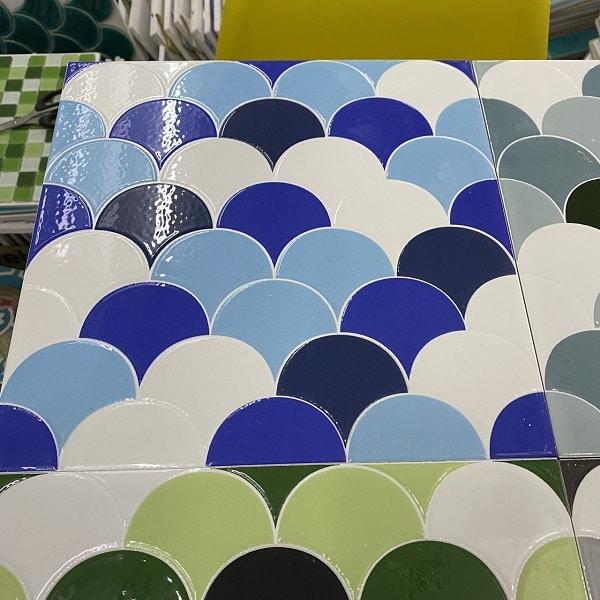 gach gia mosaic vay ca 30x30 cm gia re mau xanh