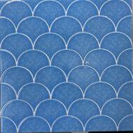 Gạch Mosaic Giả Vảy Cá Màu Xanh 30×30 Cm Ốp Bếp