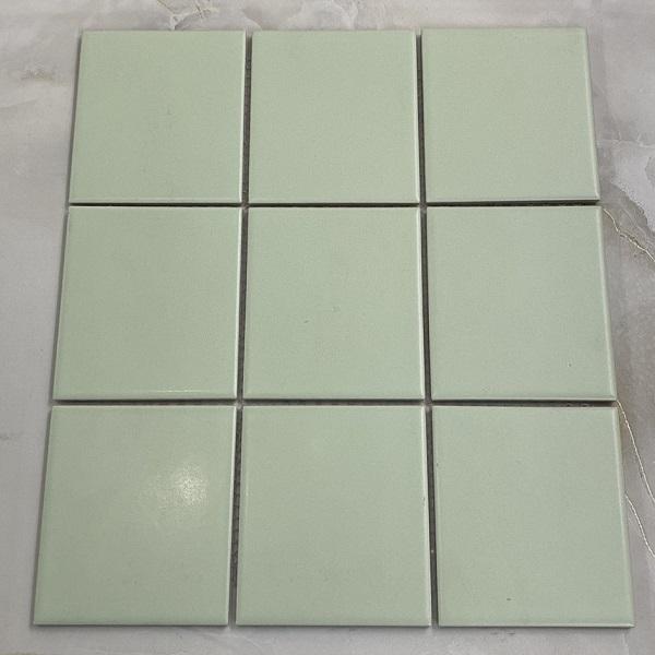 Gạch Gốm Mosaic Màu Xanh Lá Cây Ốp bếp – Phòng Vệ Sinh