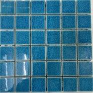 Gạch Mosaic Ốp Lát Hồ Bơi Màu Xanh Nước Biển Men Rạn
