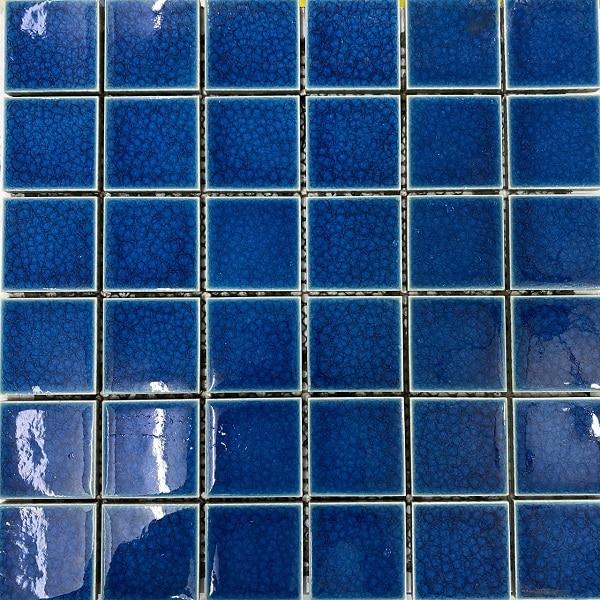 Gạch Mosaic Màu Xanh Ngọc men Rạn Ốp Lát Hồ Bơi – Phòng Vệ Sinh