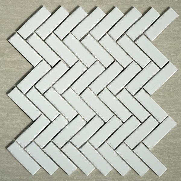 gach mosaic gom mau trang op tuong hinh xuong ca trang