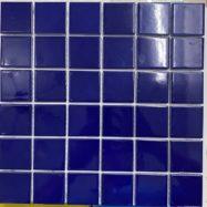 Gạch Mosaic Gốm Màu Xanh Mực Men Bóng Ốp Lát Phòng Vệ Sinh
