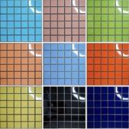 Gạch Mosaic Gốm Ốp Lát Hồ Bơi Màu Xanh – Cam – Hồng – Đen