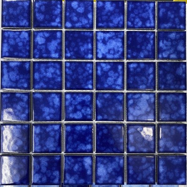 Gạch Mosaic Gốm Màu Xanh Mực Ốp Lát Hồ Bơi Phòng Vệ Sinh