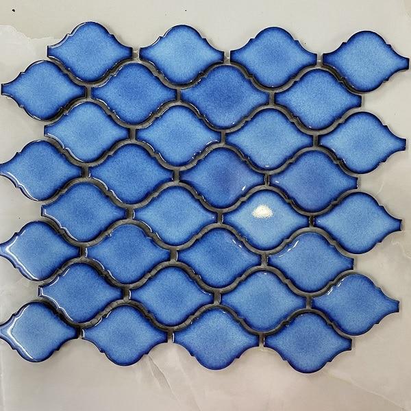 Gạch Mosaic Đèn Lòng Màu Xanh Nước Biển