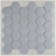 Gạch Mosaic Lục Giác Màu Xám Men Mờ Matt Ốp Lát Phòng Tắm