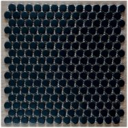 Gạch Mosaic Tròn Màu Đen Bóng Ốp Tường Phòng Vệ Sinh