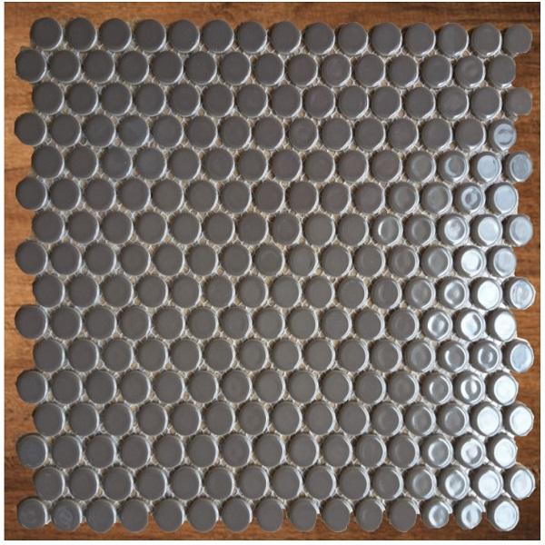 Gạch Mosaic Tròn Màu Xám Viên Bi Bóng Phòng Tắm – Phòng Vệ Sinh