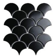 Gạch Mosaic Vảy Cá Màu Đen Ốp Bếp – Phòng Vệ Sinh
