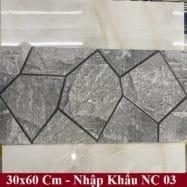 Gạch Ốp Tường 30×60 Cm Màu Xám Vân Đá Nhập Khẩu
