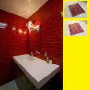 Gạch Thẻ Màu Đỏ Tươi – Đỏ Thẩm 6.8×28 Cm Ốp Bếp – Phòng Vệ Sinh