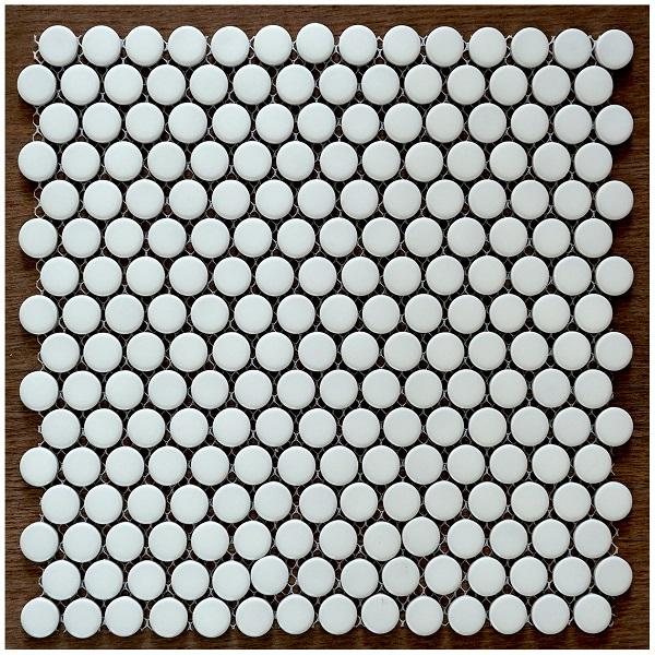 Gạch Ốp Tường Màu Trắng Hình Viên Bi Tròn Ốp Lát Phòng Tắm
