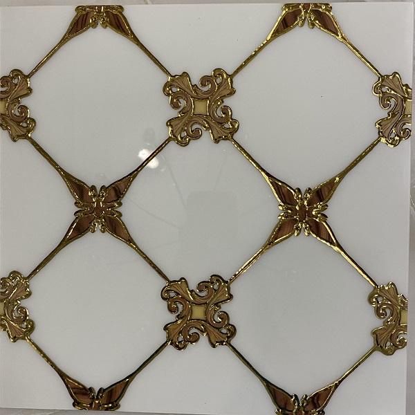 Gạch Nhủ Vàng 30×30 Ốp Tường Ô Vuông Hoa Mai
