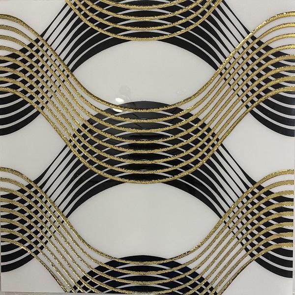 Gạch Ốp Tường Nhủ Vàng 30×30 Cm Lưới Đen Vàng