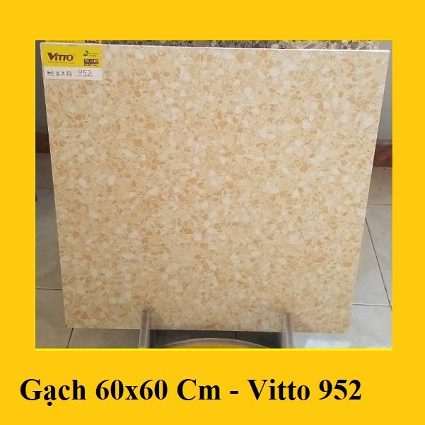 Gạch Giả Vân Đá Mài Terrazzo Màu Vàng 60×60 Cm Vitto 0952