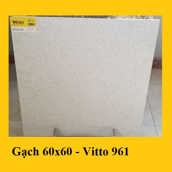 Gạch Giả Vân Đá Mài 60×60 Cm Màu Xám Nhạt Terrazzo Vitto 0961
