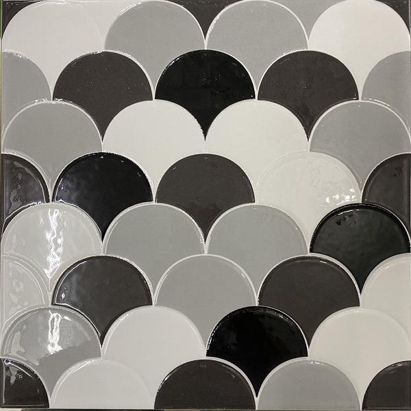 Gạch Vảy Cá Màu Trắng Xám Đen 30×30 Cm Giá Rẻ