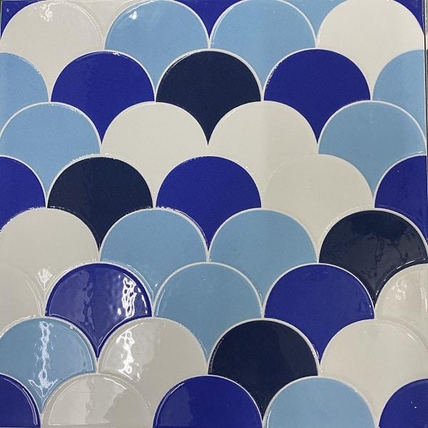 Gạch Vảy Cá 30×30 Cm Mix 3 Màu Trắng Xanh Giá rẻ