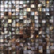 Gạch Mosaic Chất Liệu Vỏ Sò Màu Nâu Đen