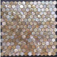 Gạch Mosaic Hình Lục Giác Chất Liệu Vỏ Sò