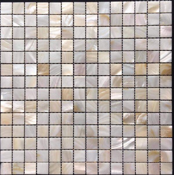 Gạch Mosaic Màu Vàng Từ Vỏ Sò