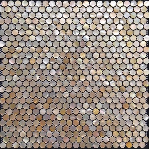 gach mosaic tron - vien bi tron vo so
