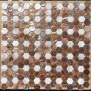 Gạch Mosaic Vỏ Sò Hình Lục Giác