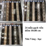 Gạch Ốp Tường Viền Điểm 10×80 Cm