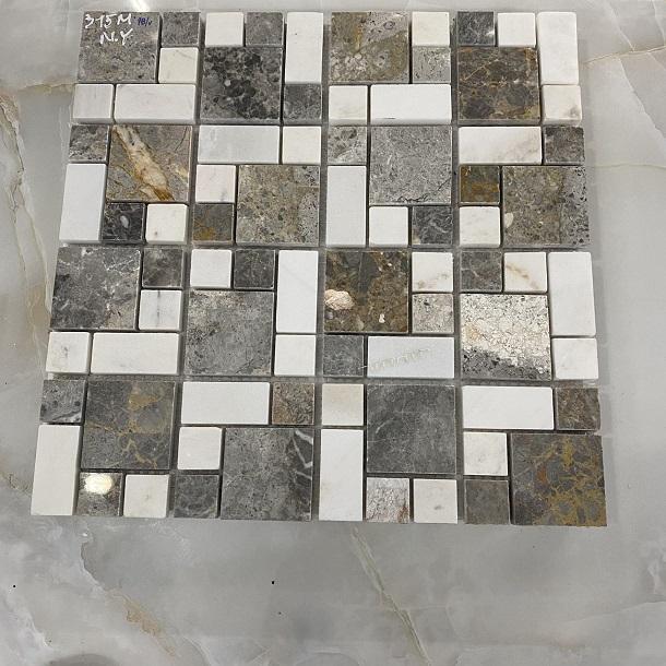da mosaic op tuong cam thach mau xam