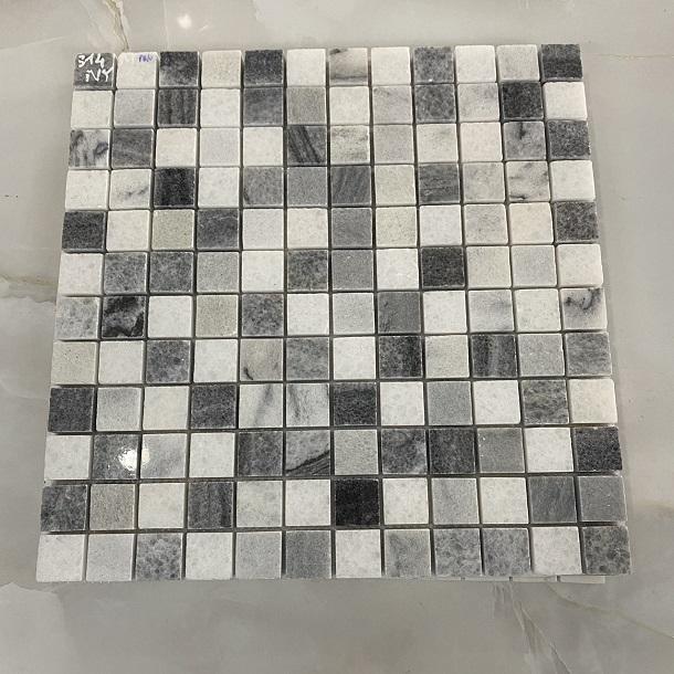 da mosaic op tuong mau trang xam
