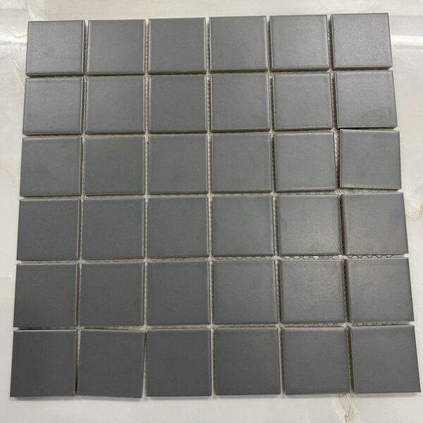 Gạch Mosaic Gốm Màu Xam Men Mờ