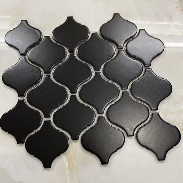 Gạch Mosaic Lồng Đèn Màu Đen Mờ